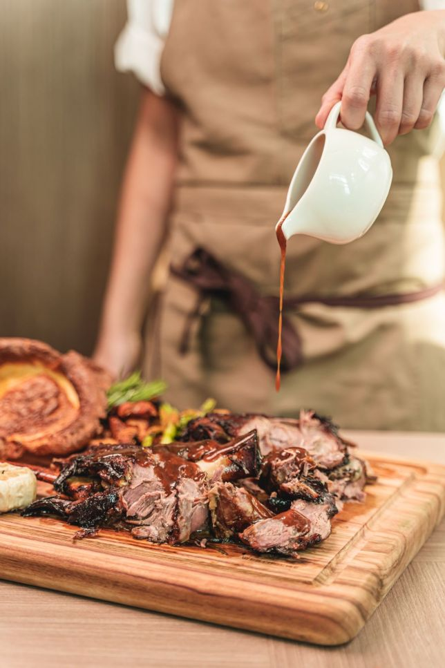 Stunning Easter Lamb Banjo Lunch at LeVeL33