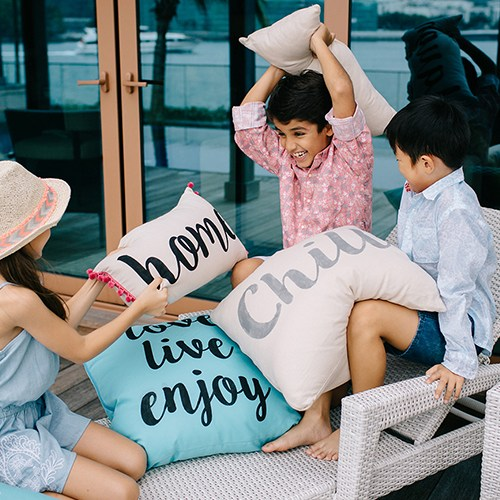 pillow, fight, stencilled, cushions, pillows, minimingmakes