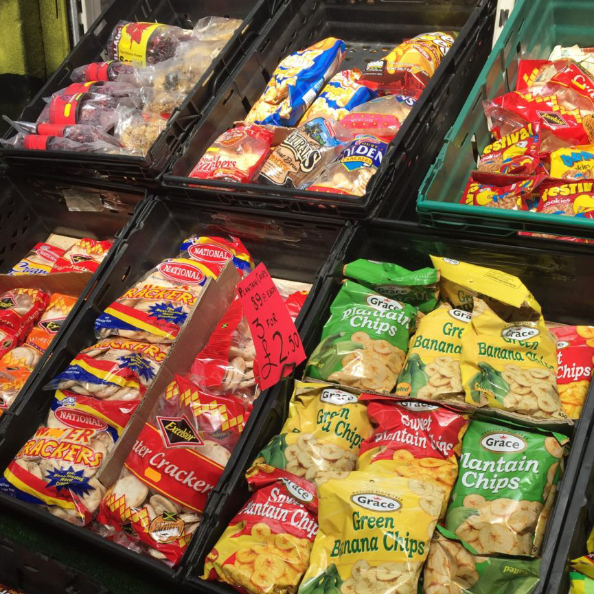 Green Banana Chips and other exotic snacks