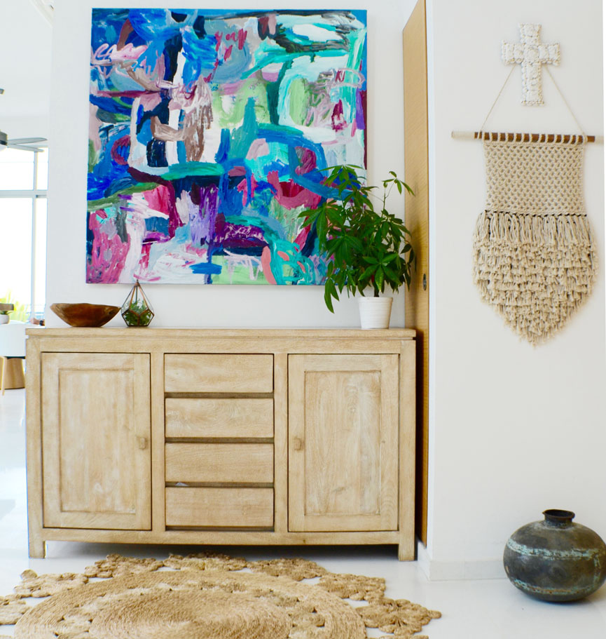 Skye's work looks just as gorgeous in a home setting as it does in a gallery. Image by Kerry Islin.