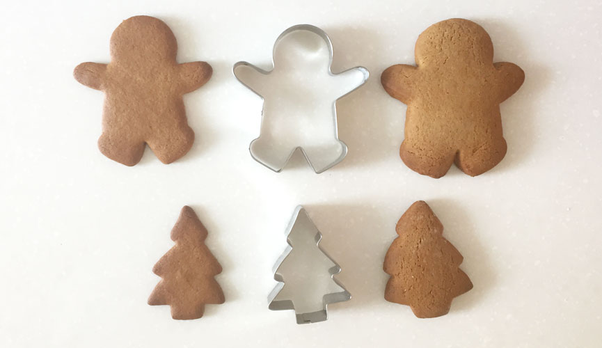 Ginger bread cookies and cutters