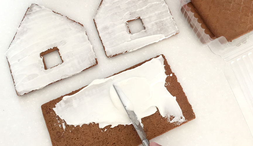 Gingerbread house, reinforced with icing