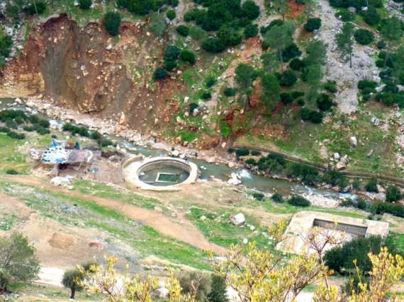 An ancient Roman bath (hammam) lies behind the city.