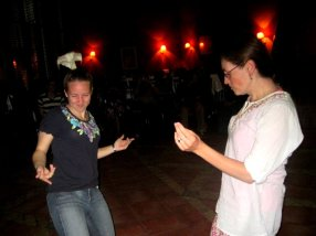 Amber and I getting groovy.