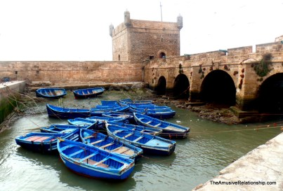 Fishing boats and ramparts