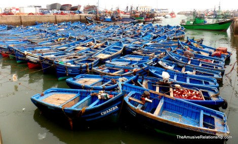 Small fishing boats