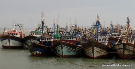 Large fishing boats