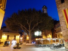 The square at night