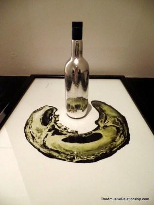 Skull on a bottle
