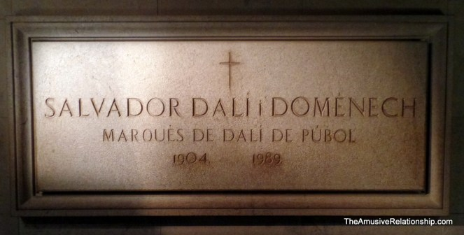 Dali's tomb inside the museum