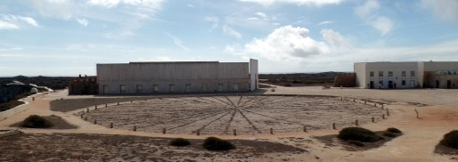A recently unearthed sundial, or nautical device at Sagres