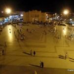 Ouarzazate Central Plaza by night