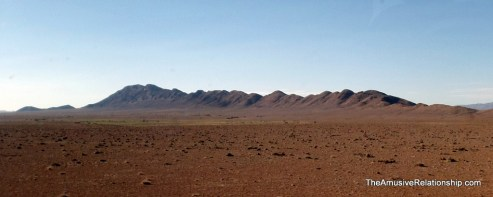 Open plains and distant mountains