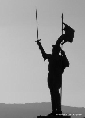 Statue of a Spanish explorer