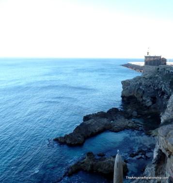 An old lighthouse along the coast