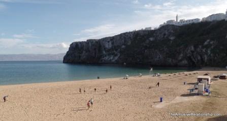 The beach near the hotel