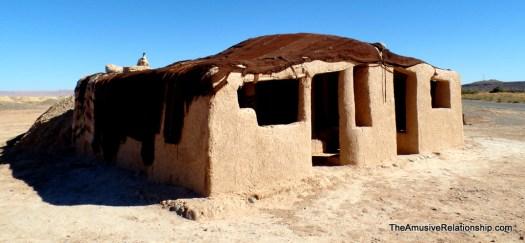 Traditional mud brick home