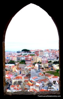 Looking out at Lisbon from São Jorge Castle