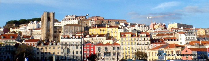The hill on which I stayed, just below the Cathedral that looks like a castle