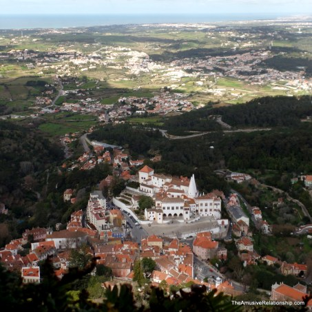 Sintra National Palace as seen from above