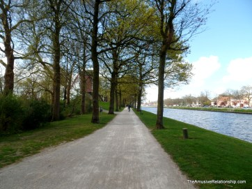 Walkway along the canal