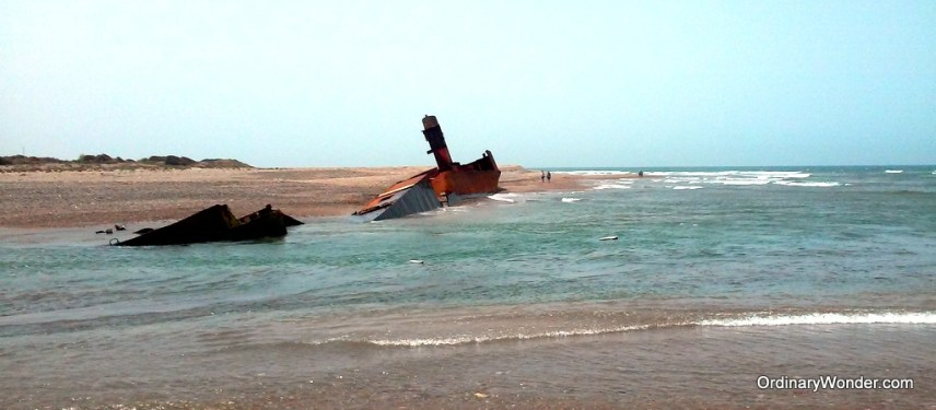 Sunken ship in the Azemmour delta