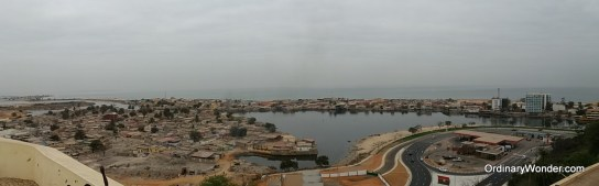 View from atop the fort.