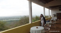 Cafe overlook to the Kwanza River