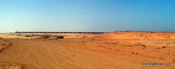 World's longest train turning around