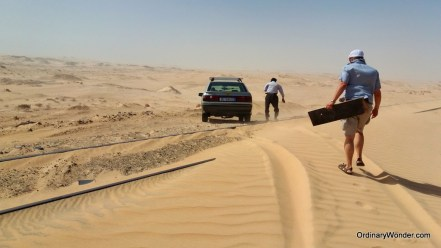 Sand travel