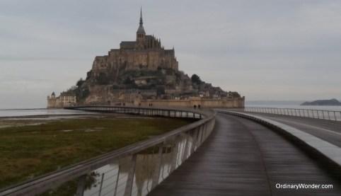 Mont St. Michel with the new bridge