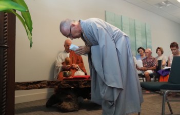 Bowing to Altar