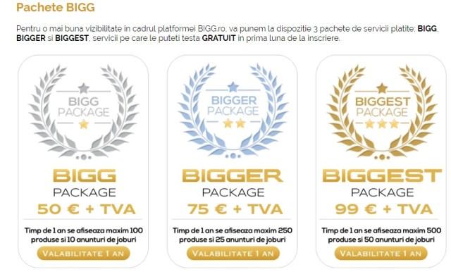 3 pachete Bigg.ro