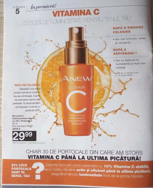 ser anew vitamina c