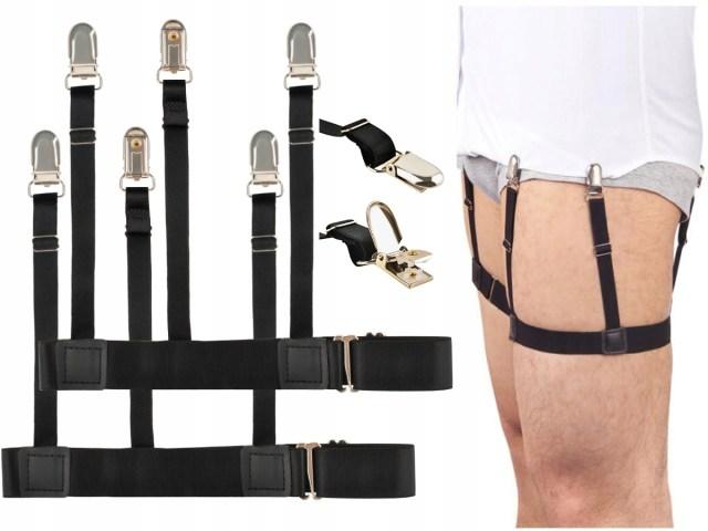 Set-suspensor---bretele-barbati-ajustabile-pentru-camasa--maiou-sau-tricou--culoare-Negru