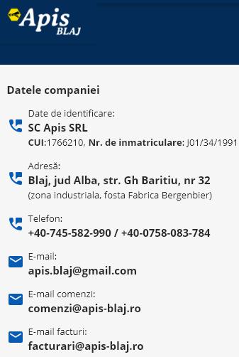 contact apis blaj