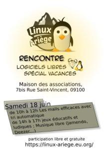 Linux Ariège Spécial Vacances