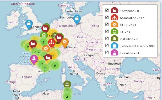 Cartographie de l'Agenda du Libre