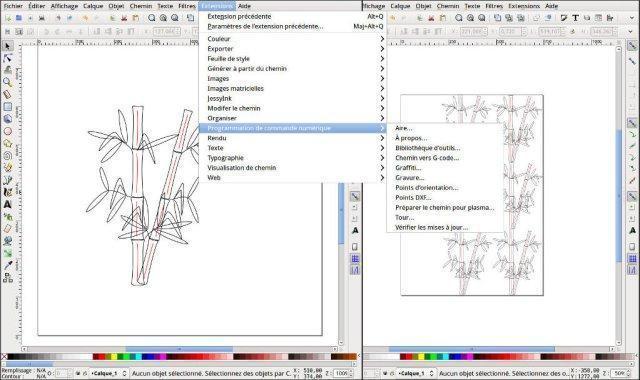 Des extensions de Inkscape