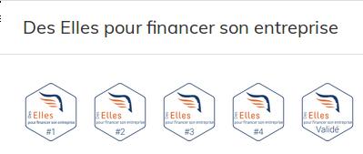 5 Badges Des Elles pour financer son entreprise