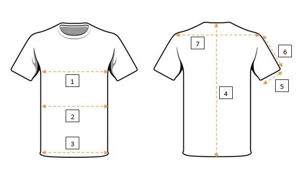 measurement of a t-shirt