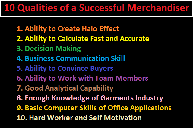 qualities of a good merchandiser