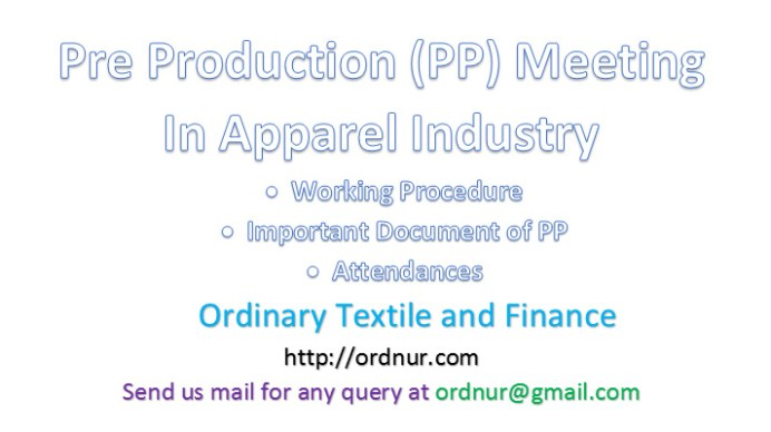 Pre Production Meeting in Apparel Industry