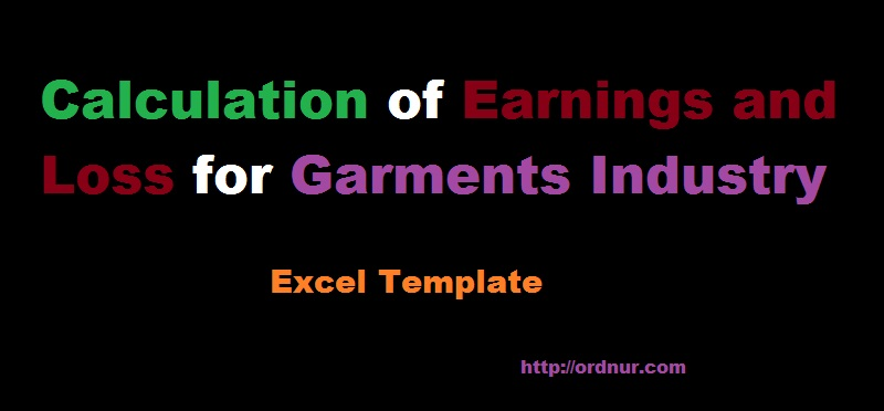 Calculation of Earnings and Loss Template