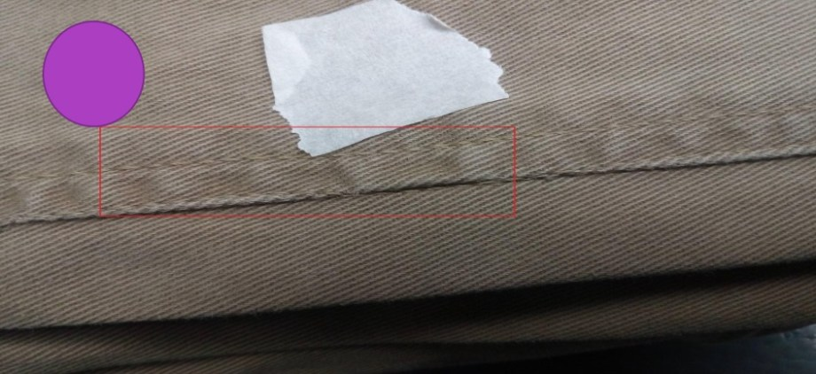 Down Stitch Defects of Garments