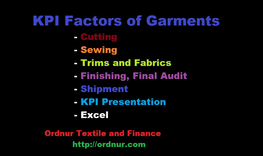 KPI Factors of Garments