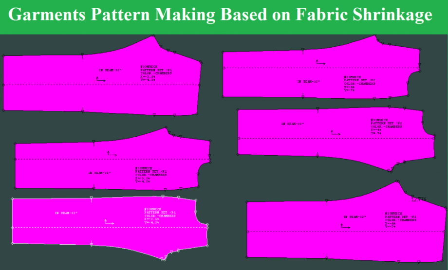 Garments Pattern Making Based on Fabric Shrinkage