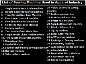 List Of Sewing Machine Used In Apparel Industry ORDNUR TEXTILE AND FINANCE