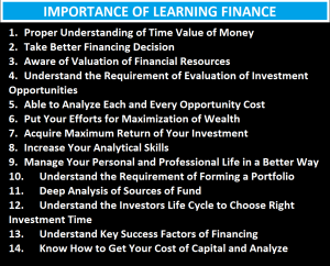 14 Importance of Learning Finance