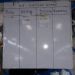 Kanban Board in Garments Manufacturing Production Floor